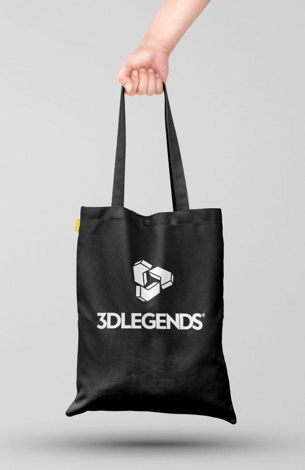 3DLEGENDS® shopping bag black